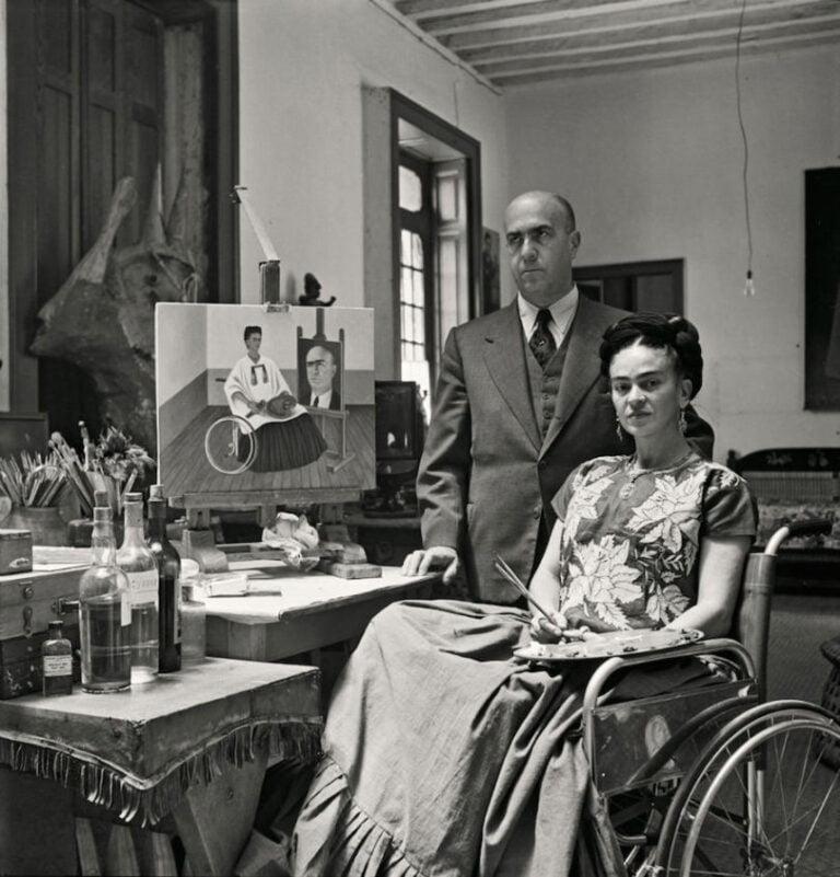 Frida Kahlo con su doctor Juan Farrill
