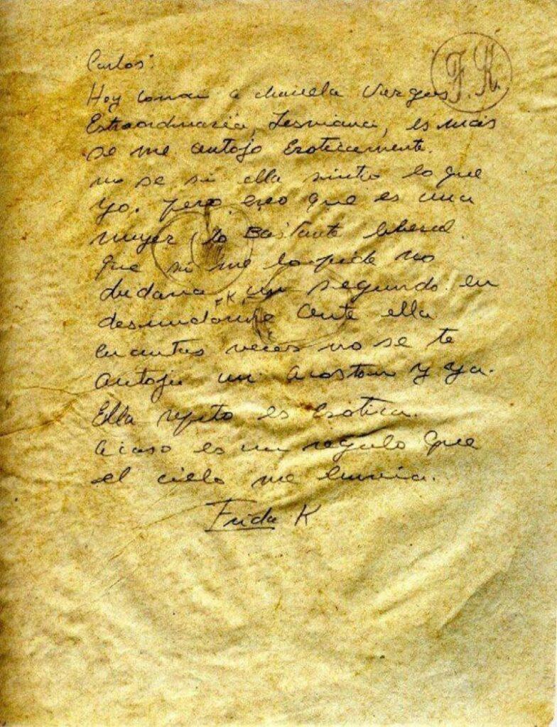 carta de frida a chavela