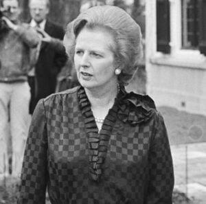 Margaret Thatcher in 1981 cropped